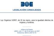 Ley Orgánica 3/2007